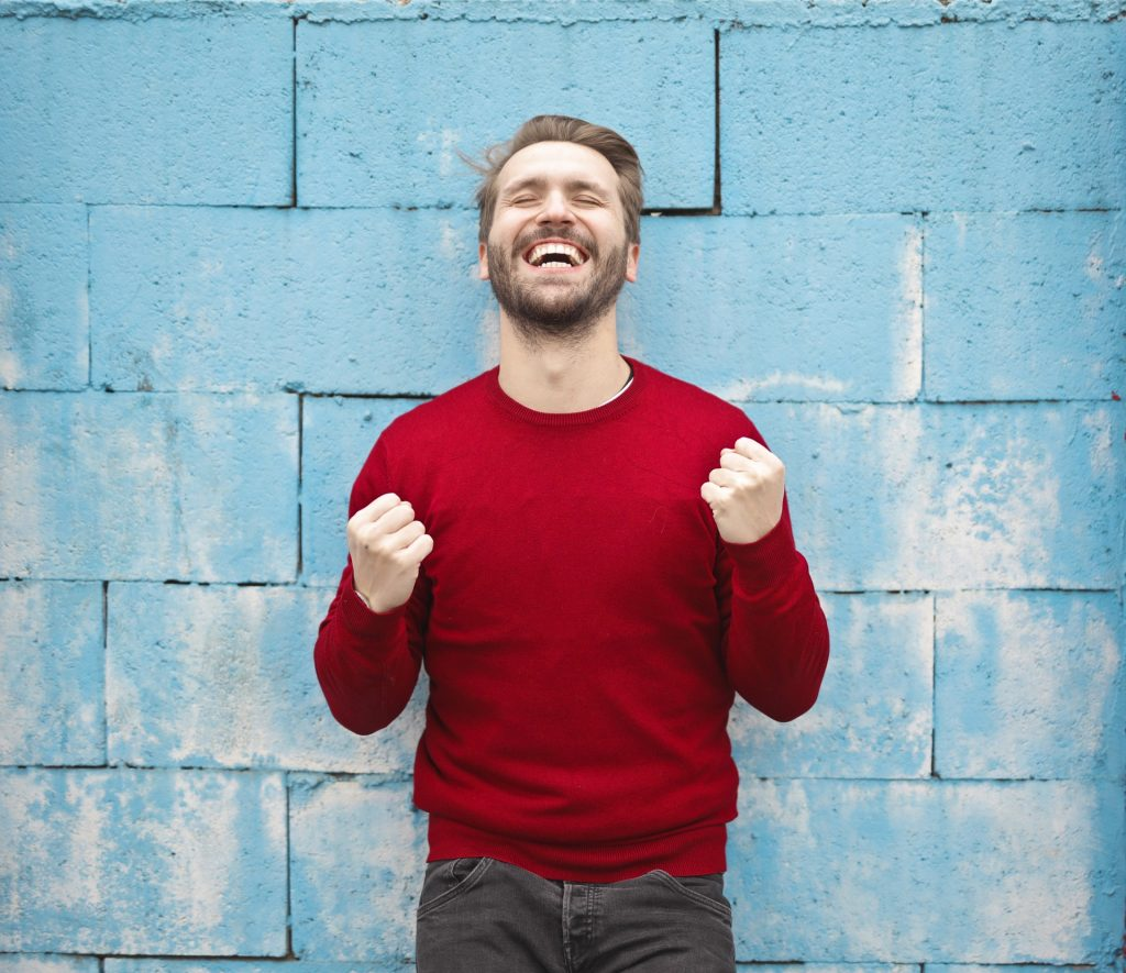 Man happy smiling picture
